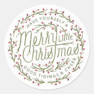 Alegre poucas etiquetas do Natal Adesivo