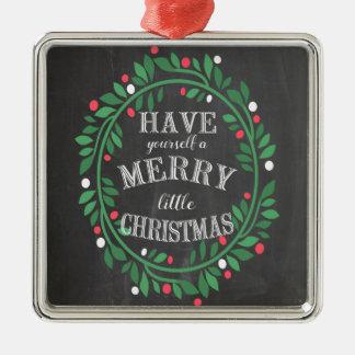 Alegre pouco ornamento do giz do Natal