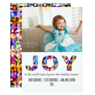 Alegria à foto Sparkly colorida do feriado do Convite 12.7 X 17.78cm