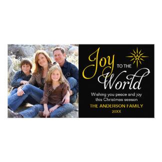 Alegria ao Natal religioso do mundo Cartao Com Fotos