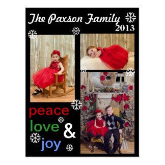 alegria do feriado cartão postal