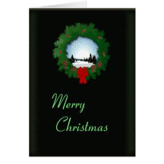 Alegria do Natal Cartão Comemorativo