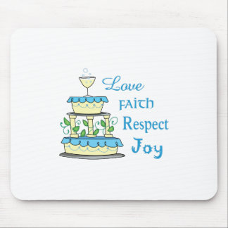 Alegria do respeito da fé do amor mouse pad