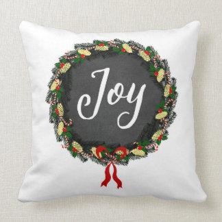 Alegria - grinalda do Natal - travesseiro quadrado Almofada