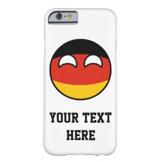 Alemanha Geeky de tensão engraçada Countryball Capa Barely There Para iPhone 6
