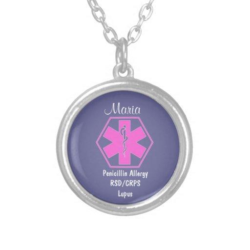 Alerta alerta médico customizável da alergia da bijuteria