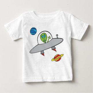 Alex a alienígena - t-shirt fino do jérsei do bebê