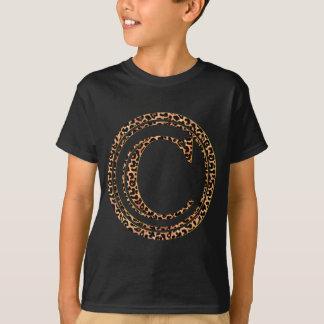 alfabeto C do leopardo T-shirt