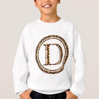 alfabeto D do leopardo Agasalho
