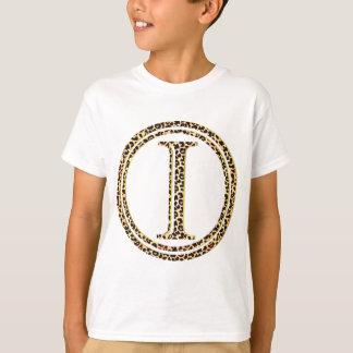 alfabeto do leopardo mim camisetas