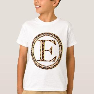 alfabeto E do leopardo Camiseta