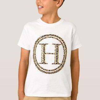 alfabeto H do leopardo Tshirts