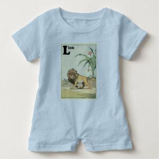 Alfabeto ilustrado leão da selva t-shirts