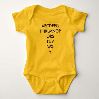 Alfabeto infantil t-shirt
