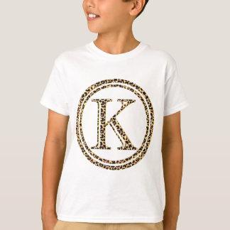 alfabeto K do leopardo T-shirt