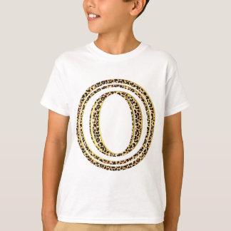 alfabeto O do leopardo Camiseta