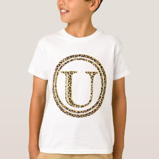 alfabeto U do leopardo Tshirt