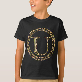 alfabeto U do leopardo Tshirts