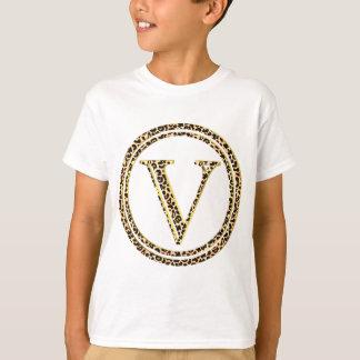 alfabeto V do leopardo Tshirt