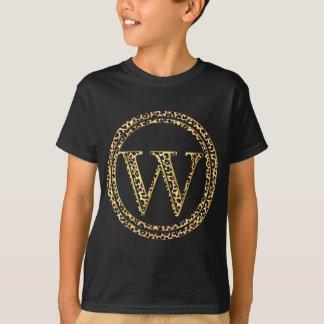 alfabeto W do leopardo Camiseta