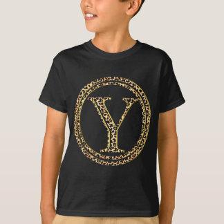 alfabeto Y do leopardo Camiseta