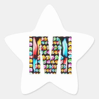Alfabetos decorativos - oferta do partido adesivo estrela