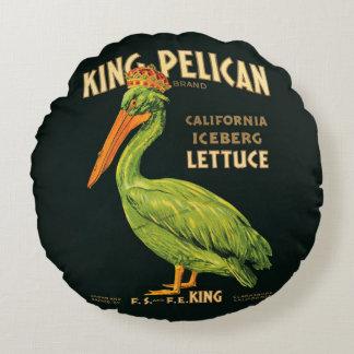 Alface de iceberg do rei Pelicano do poster Almofada Redonda