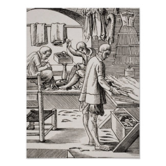Alfaiate, reprodução de um woodcut poster