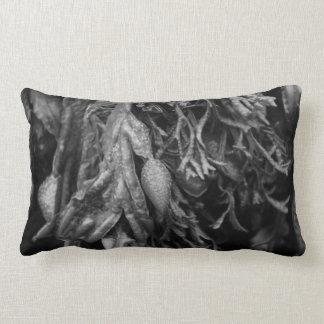 Alga em preto e branco. travesseiros