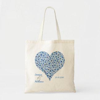 Algo saco azul do presente do favor do casamento d bolsas para compras