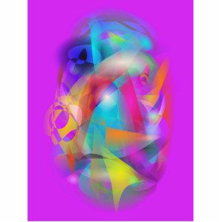 Algodão colorido fotoescultura
