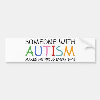 Alguém com autismo faz-me diário orgulhoso adesivo para carro