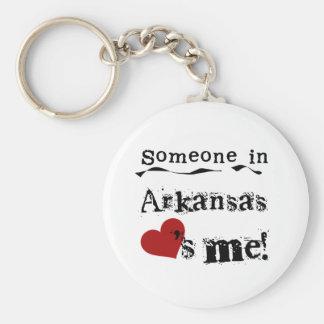 Alguém em Arkansas ama-me Chaveiro