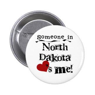 Alguém em North Dakota ama-me Bóton Redondo 5.08cm