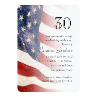 Alguma bandeira americana do convite do