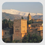 Alhambra; Granada; Andaslusia, espanha, serra Adesivo Quadrado