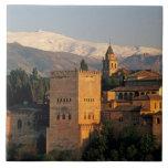 Alhambra; Granada; Andaslusia, espanha, serra Azulejo Quadrado Grande