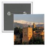 Alhambra; Granada; Andaslusia, espanha, serra Bóton Quadrado 5.08cm