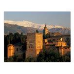Alhambra; Granada; Andaslusia, espanha, serra Cartão Postal