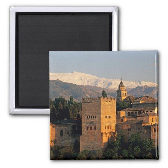 Alhambra; Granada; Andaslusia, espanha, serra Ímã Quadrado