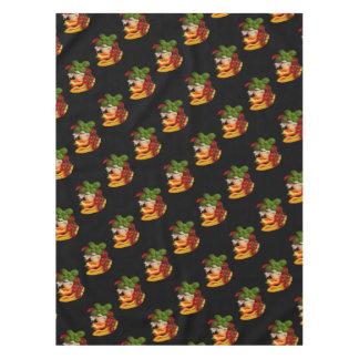 Alho dos tomates da manjericão das pimentas toalha de mesa