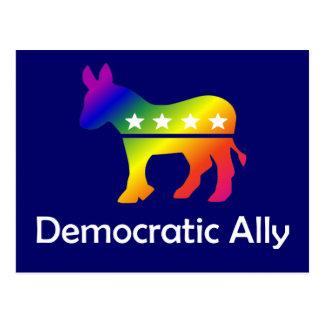 Aliado Democrática de GLBT Cartão Postal