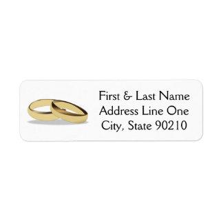 Aliança de casamento etiqueta endereço de retorno