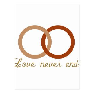 Alianças de casamento cartão postal