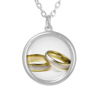 Alianças de casamento colar banhado a prata
