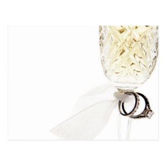 Alianças de casamento do vidro de Champagne Cartão Postal