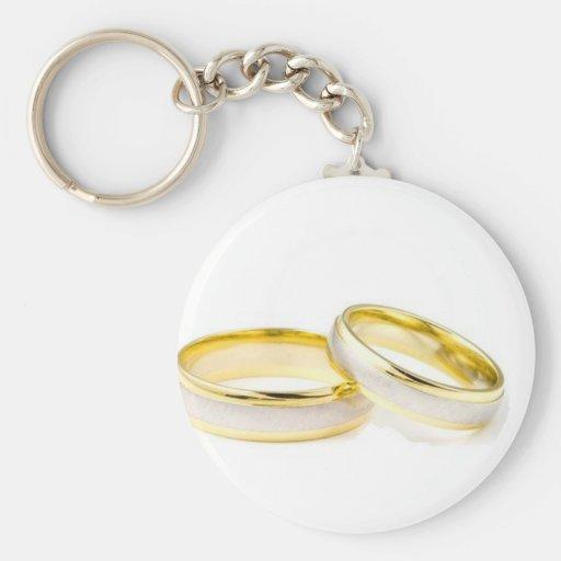 alianças de casamento chaveiros