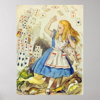 Alice & a cor completa dos cartões posters