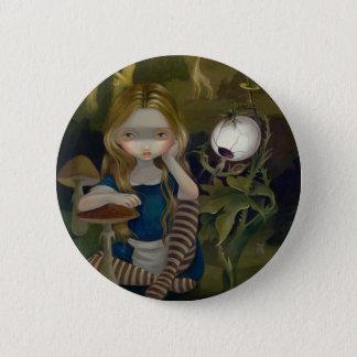 """""""Alice botão de uma paisagem de Bosch"""" Bóton Redondo 5.08cm"""