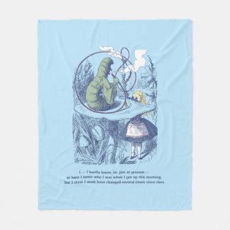 Alice e a cobertura média do velo de Caterpillar Cobertor De Lã